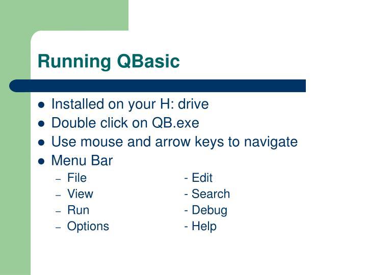 Running QBasic
