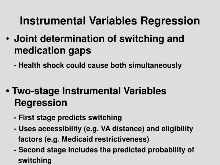 Instrumental Variables Regression