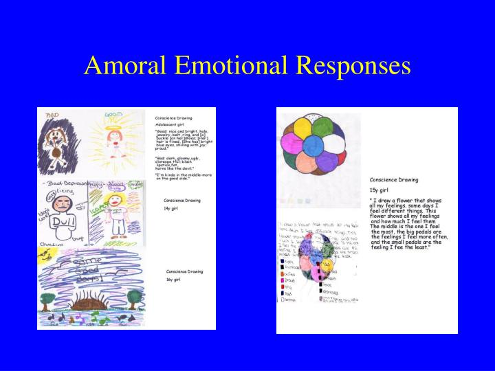 Amoral Emotional Responses