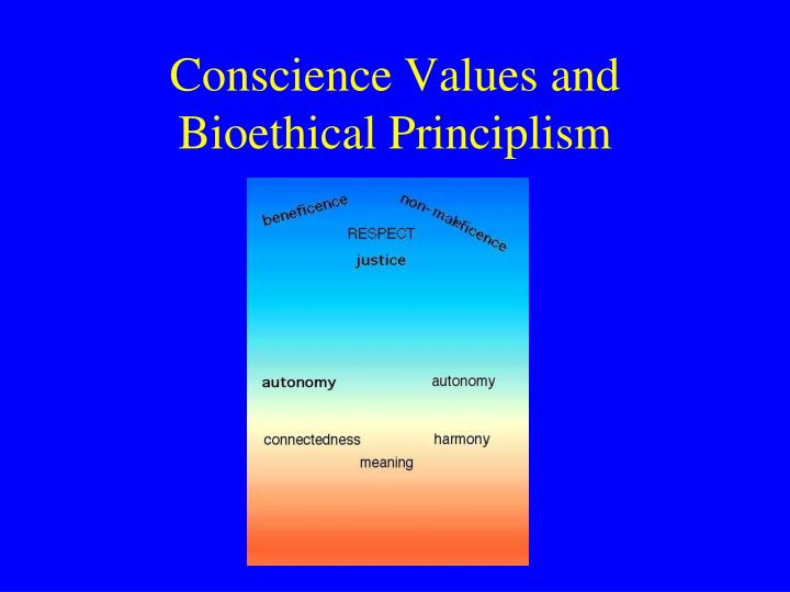 Conscience Values and Bioethical Principlism