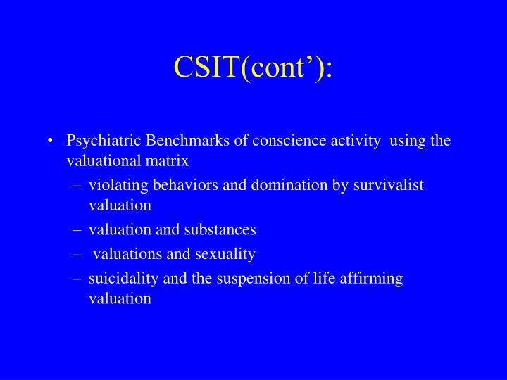 CSIT(cont'):