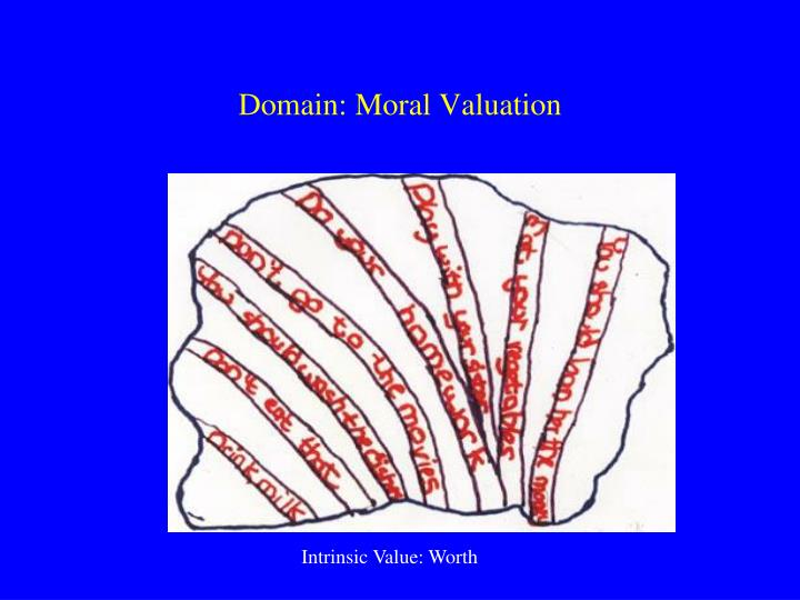 Domain: Moral Valuation