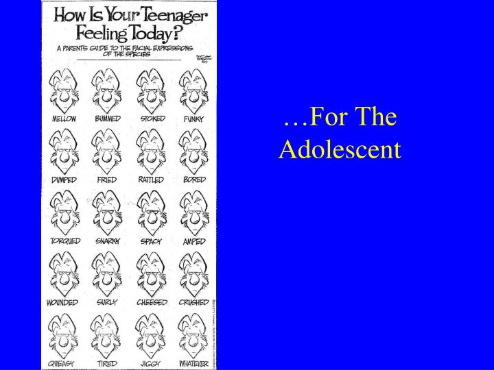 …For The Adolescent