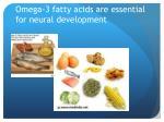 omega 3 fatty acids are essential for neural development