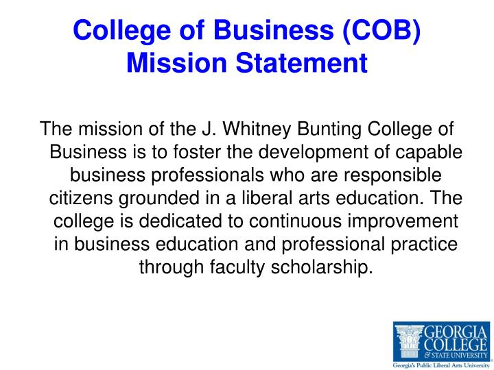 College of business cob mission statement