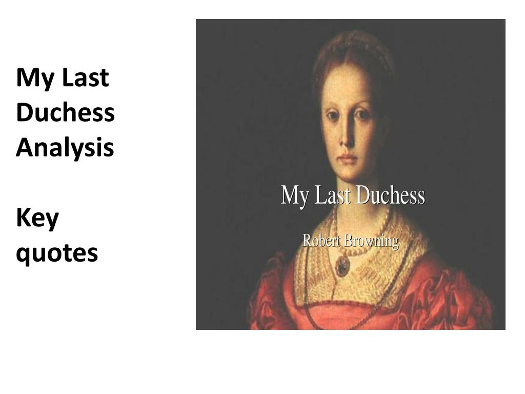 my last duchess structure analysis