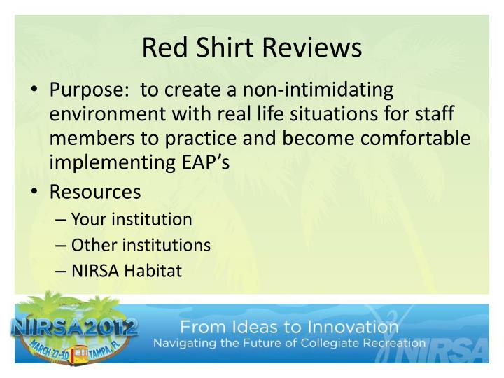 Red Shirt Reviews