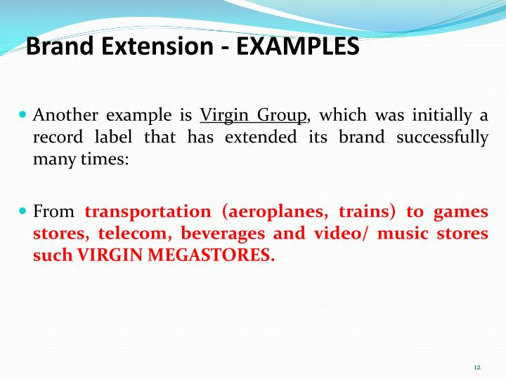 Brand Extension - EXAMPLES