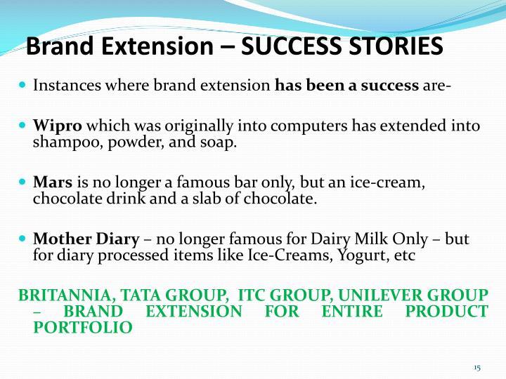 Brand Extension – SUCCESS STORIES