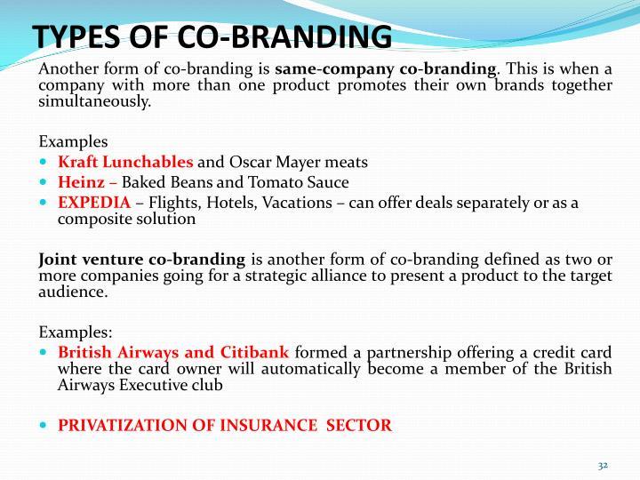 TYPES OF CO-BRANDING