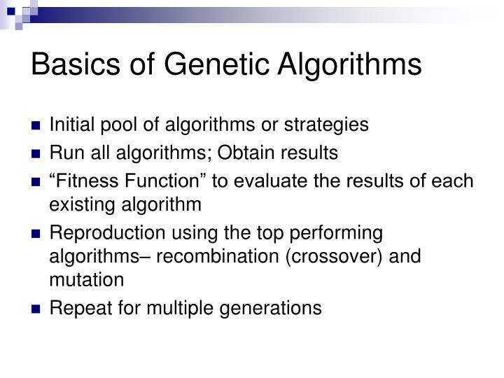 Basics of Genetic Algorithms