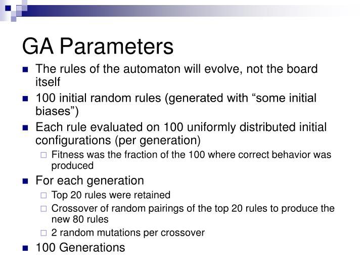GA Parameters
