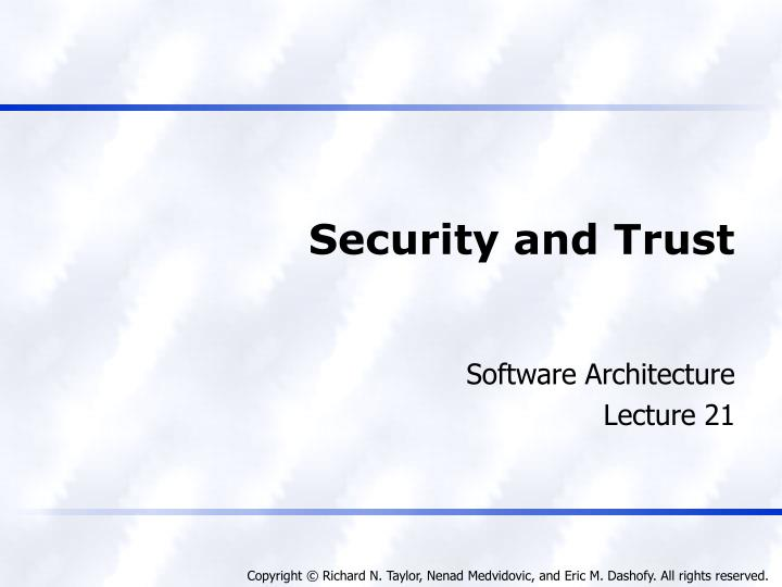 security and trust n.