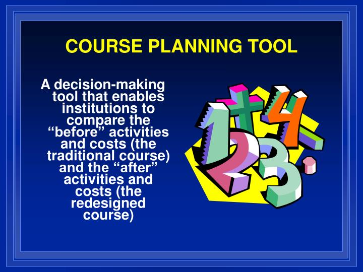 course planning tool n.