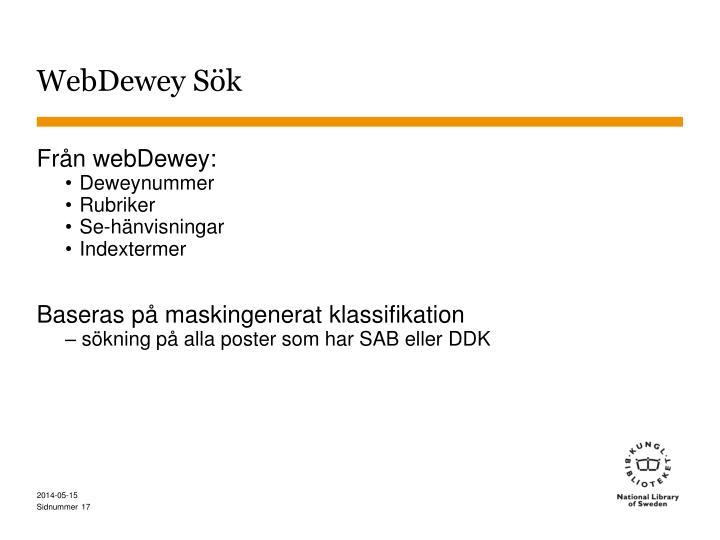 WebDewey Sök