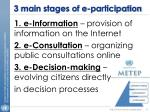 3 main stages of e participation