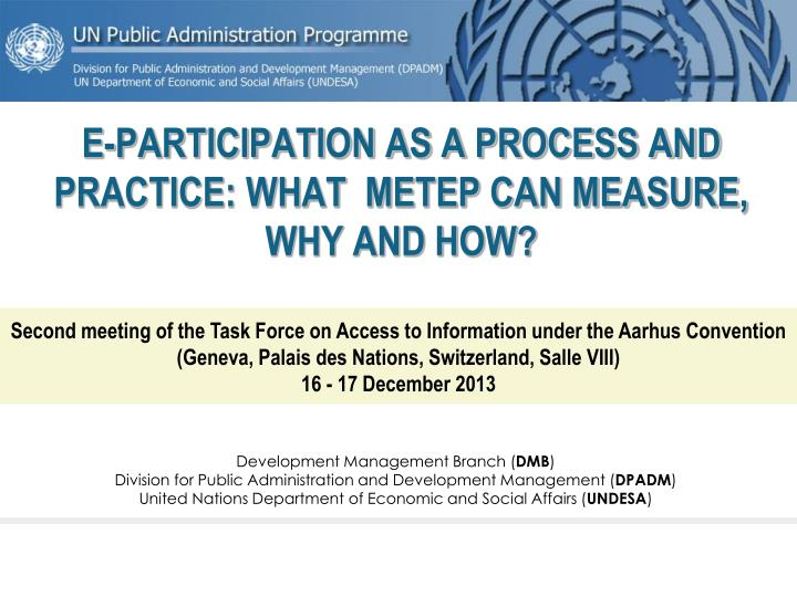 e participation as a process and practice what metep can measure why and how