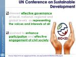 un conference on sustainable development