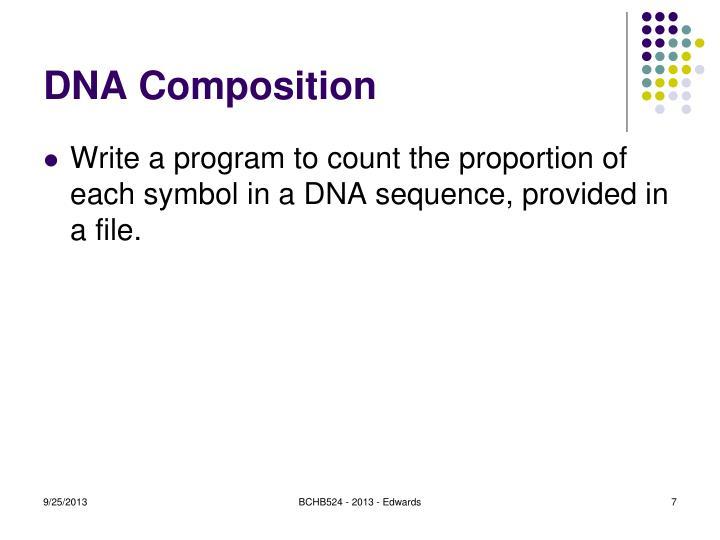DNA Composition