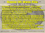 canto iv data file