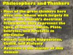 philosophers and thinkers