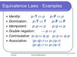 equivalence laws examples