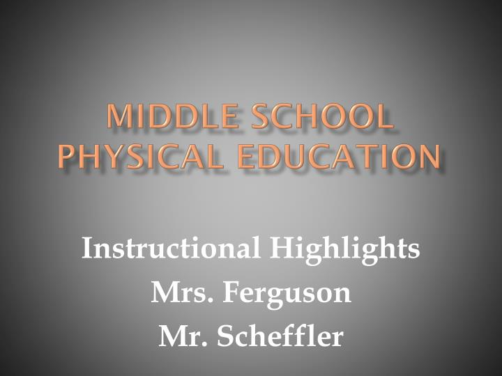 middle school physical education n.