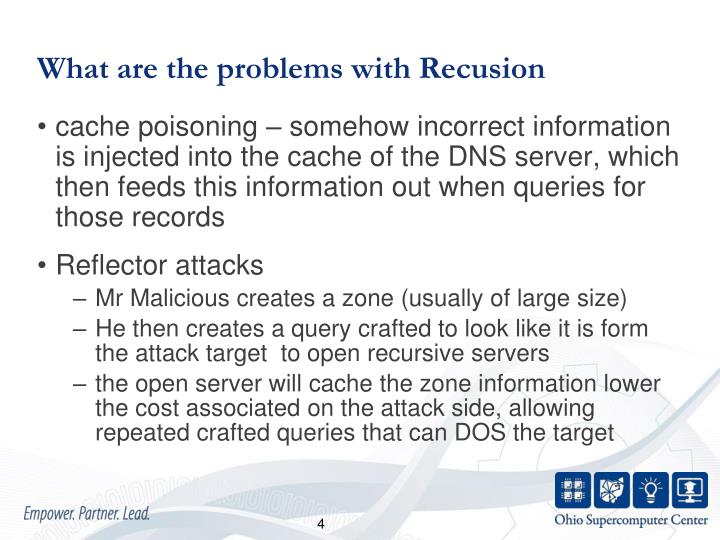 What are the problems with Recusion
