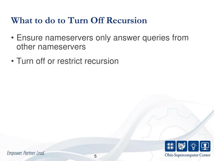 What to do to Turn Off Recursion