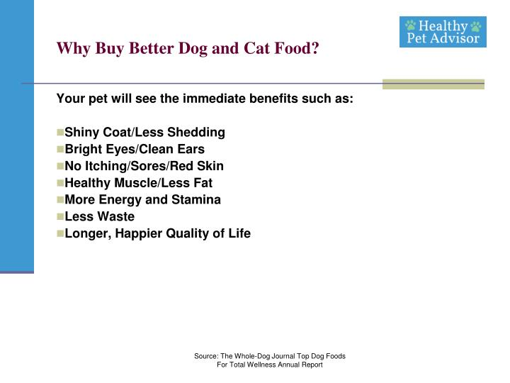 why buy better dog and cat food n.