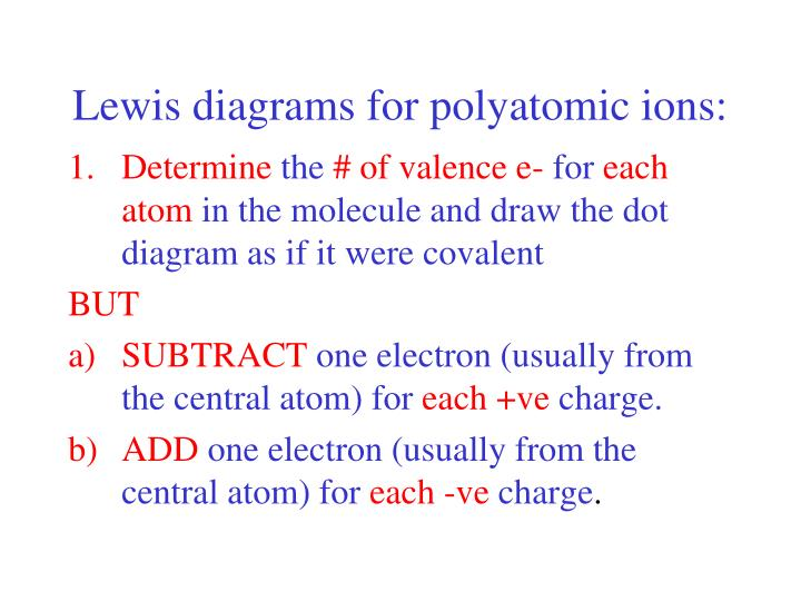 ppt - lewis diagrams for polyatomic ions powerpoint presentation