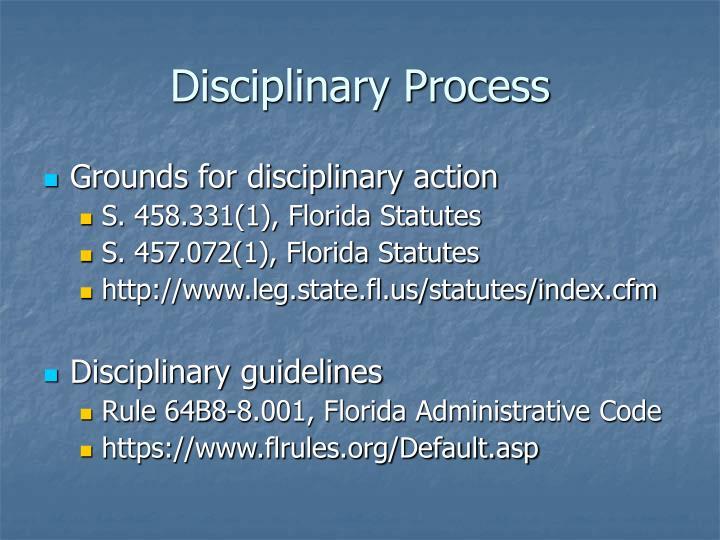 Disciplinary Process