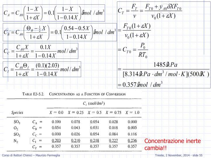Concentrazione inerte