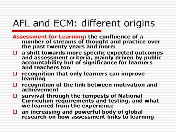 Afl and ecm different origins