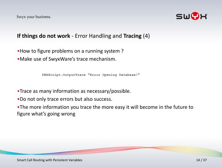 How to figure problems on a running system ?