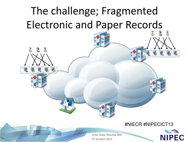 The challenge fragmented electronic and paper records