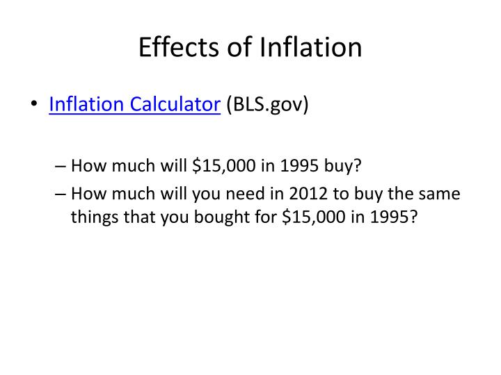 Effects of Inflation