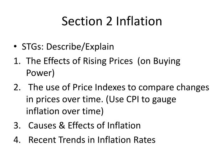Section 2 Inflation