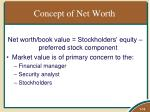 concept of net worth