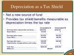 depreciation as a tax shield