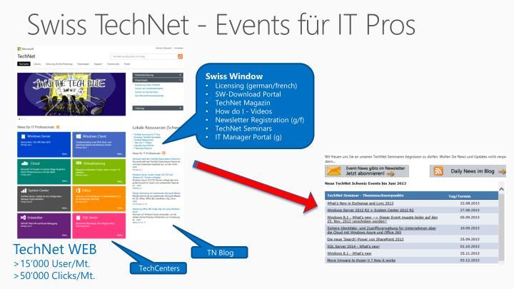 Swiss technet events f r it pros