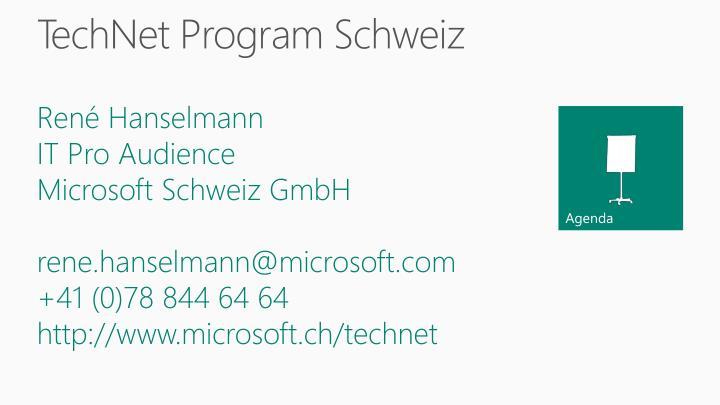 Technet program schweiz