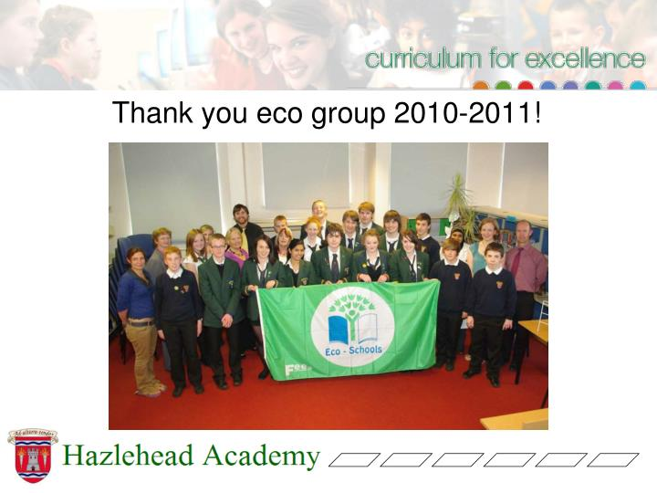 Thank you eco group 2010-2011!