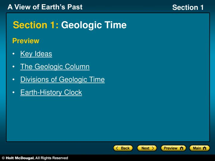 section 1 geologic time n.