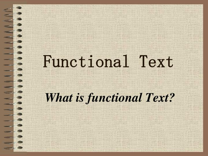 functional text n.