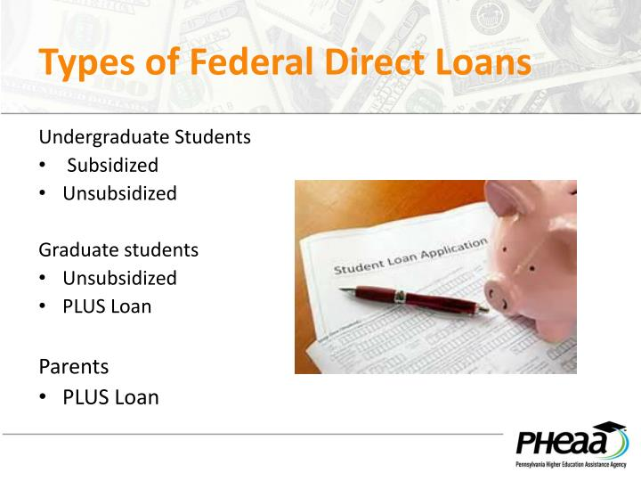 Types of Federal Direct Loans