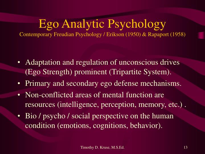 Ego Analytic Psychology