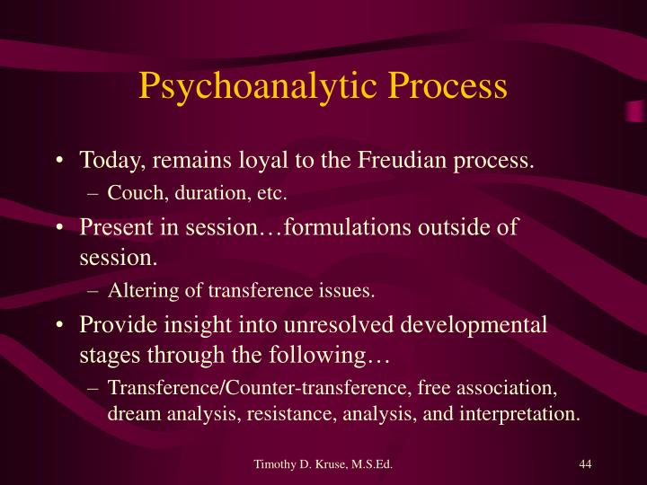 Psychoanalytic Process