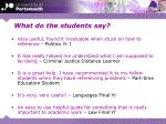 what do the students say