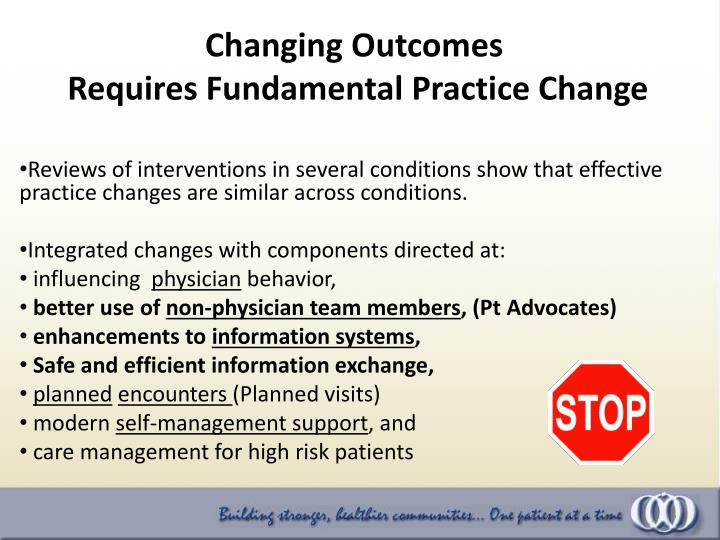 Changing Outcomes